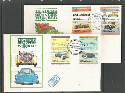 Grenadines of St Vincent (Union Island) 1985-6 Cars / Automobiles seven FDCs