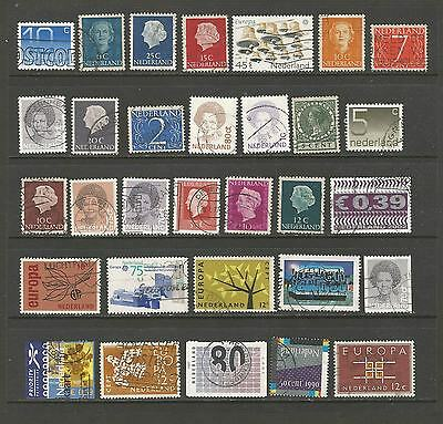 Netherlands / Belgium used selection, 1p per stamp!! [2 scans]
