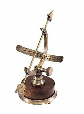 G4436: Maritime Table Sundial, Table Sundial, Nautical Antique Brass Sundial