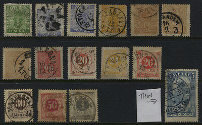 Sweden 1858 - 1903 Small Used Collection CV $195