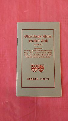 Olney 1970-71 Rugby Membership Card