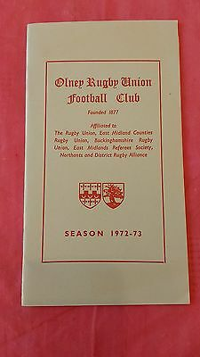 Olney 1972-73 Rugby Membership Card