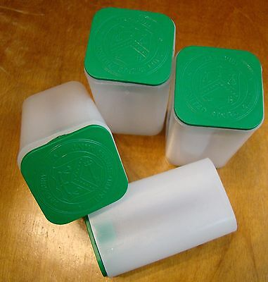 Lot of 4 SILVER ROUNDS and COINS GREEN TOP TUBES Holders 40mm US American Eagle