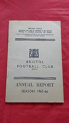 Bristol Rugby Club 1965-66 Annual Report