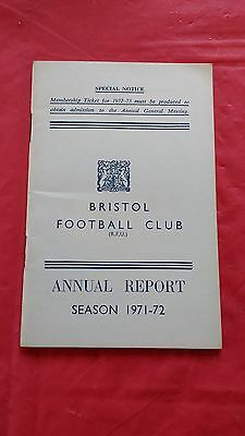 Bristol Rugby Club 1971-72 Annual Report