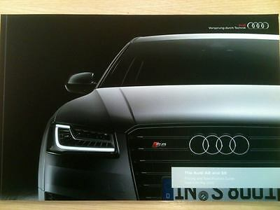 AUDI A8 & S8 UK Sales Brochure/Pricing & Specification Guide May 2016