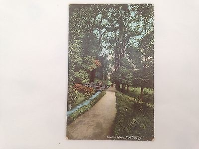 Vintage Old Scottsh Postcard Of Lovers Walk, Rothesay, Isle Of Bute