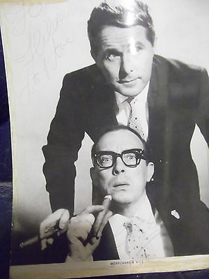 Comedy Legends MORECAMBE & WISE hand signed photo