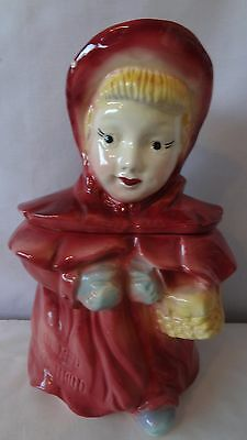 Brush McCoy Pottery RARE 1956 Little Red Riding Hood Cookie Jar H937.