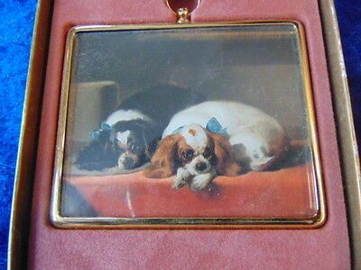 Miniature Picture King Charles Spaniels New Boxed by Sir Edwin Landseer  No.52