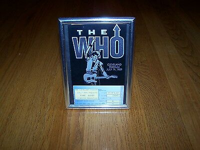 The Who Concert Ticket Stub And Parking Pass Cleveland Stadium July 19, 1989
