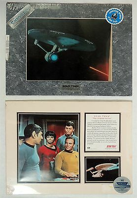 B788. Lot of 2 STAR TREK TOS Limited Edition Matted Prints Zanart O.S.P (1995)=