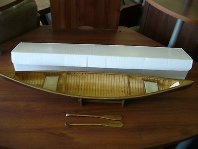"""AM Collections Large Wood Canoe Paddles 27"""" ASA073 Orig Box Authentic Models"""