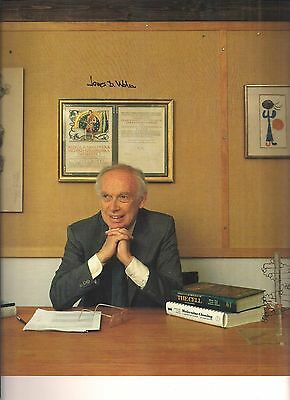 JAMES D. WATSON Signed Color Book Photograph by Yousuf Karsh DOUBLE HELIX