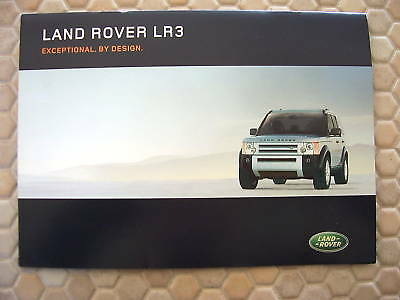 Land Rover First Promotional Lr3 Sales Brochure 2005 Usa Edition