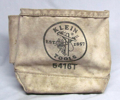 Vintage Klein Tools 5416T Canvas Heavy Duty Lineman Tool Pouch/Bag