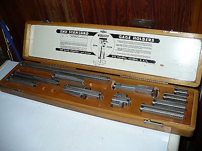 """Vintage DoALL End Standard Gage Holder Set 1-18"""" Micro-Step Gaging System Do-ALL"""