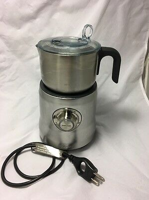 Breville BMF600XL Milk Café Steel Electric Milk Frother Complete Perfect
