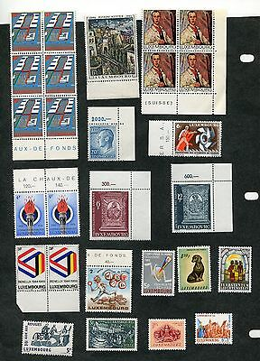 Stamp Lot Of Mint Luxembourg (2 Scans)