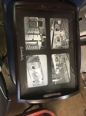 Schwebel's Vintage Photograph Advertising Wooden Tray-- Rare Youngstown Ohio
