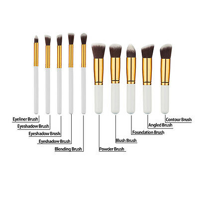 10pcs Makeup Cosmetic Brushes Set Powder Foundation Eyeshadow Lip Brush Tool New