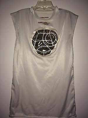 Boys Rawlings Sleeveless Shirt with Built-In Heart Guard (Size Large)