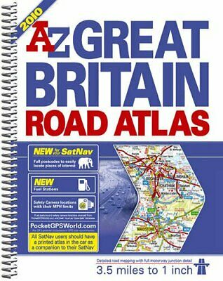 A-Z Great Britain Road Atlas: 3.5 Miles ... by Geographers' A-Z Map Spiral bound