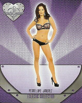 2016 Benchwarmer Eclectic Collection Pennelope Jimenez Jumbo Box Topper Card