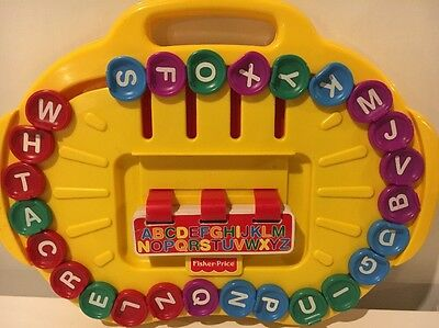 Fisher Price Alphabet Go Round Learning Spelling Reading K, 1st, 2nd Grade