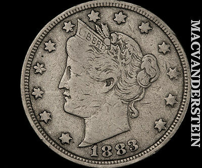 1883 Liberty Nickel- No Cent !! Very Fine !! Better Date !! #o6919