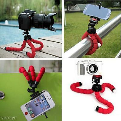Octopus Flexible Phone Camera Tripod Mount Stand Holder + Clip Mount f. iPhone 7