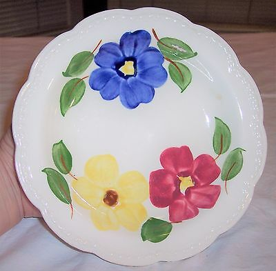 """Vintage Hand Painted Heritage Ware by Stetson Floral Cereal Bowl 8"""" Underglaze"""