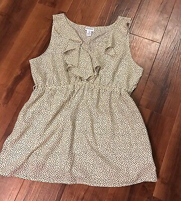 Motherhood maternity polka dot sleeveless top size XL