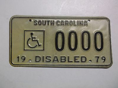 1979 '79 South Carolina SC DISABLED License Plate Auto Tag Wheelchair Handicap