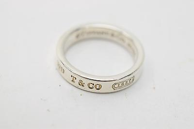 Authentic Tiffany & Co. Ring Band Silver 925 US 6  138495