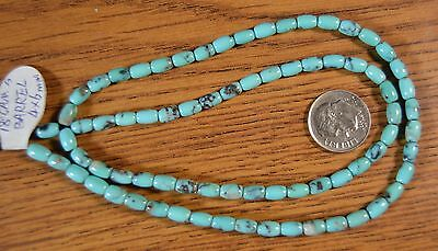 """~18"""" strand~  Campitos Turquoise Barrel Beads  with pyrite 4x6mm"""