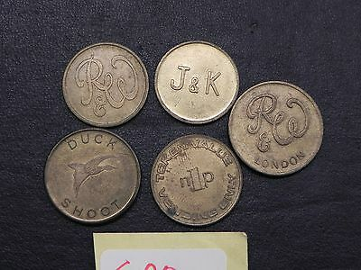 Old Tokens Lob Lot Of 5  T20