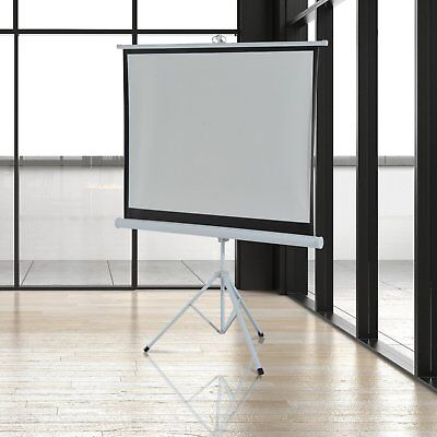 "100"" Projector Screen 4:3 Folding Adjustable Stand Home Theater Display Tripod"