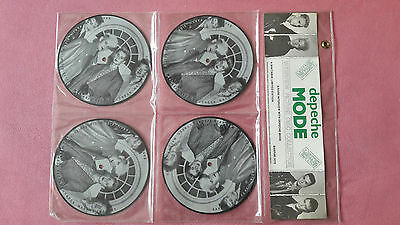 """4 x 7"""" Depeche Mode Interview Picture Disc Collection, Limited Edit, BAKPAK 1010"""