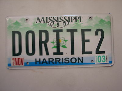 "Miss  Vanity License Plate ""do Rite 2"" Dudley Dew Right Dorite"