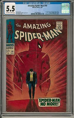 Amazing Spider-Man #50 CGC 5.5 (OW-W) 1st appearance of Kingpin