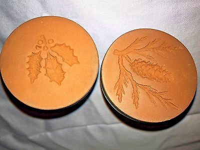 Rycraft PINE CONE & HOLLY LEAVES AND BERRIES Christmas Cookie Stamps
