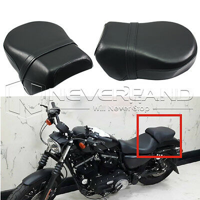 Black Rear Passenger Seat Pillion For Harley Sportster XL 883 1200 2004-2015