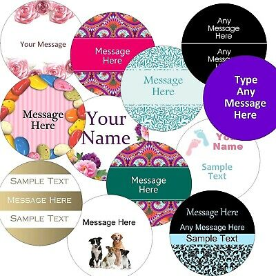 Personalised Labels/stickers Large 63.5mm Circle Business/Company Name stickers