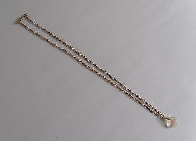 Vintage 60s Fine Goldtone Necklace with Faceted Spangling Pyrite Stone Pendant