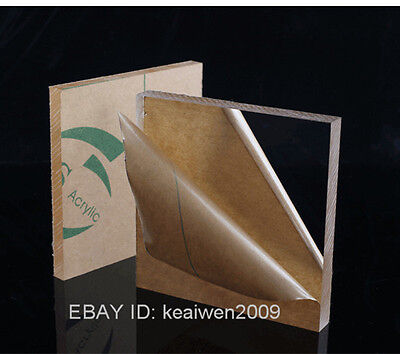 2pcs 150x150x6mm Clear Acrylic Plexiglass Sheet Plastic Panel Perspex PMMA Plate