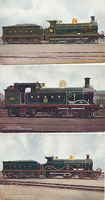 3x South Eastern & Chatham Railway official pc's; locomotives