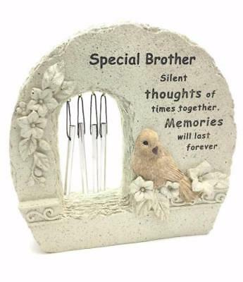 Special Brother Windchime Grave Memorial Remembrance Plaque Ornament DF15840J