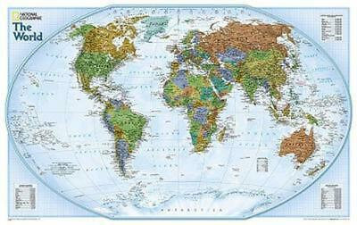 World by National Geographic Maps (English) Not Folded Book Free Shipping!