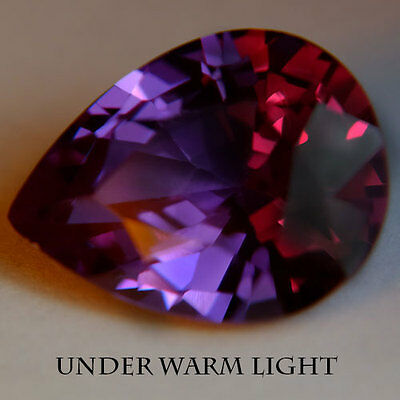 11.40ct.AWESOME RUSSIAN COLOR CHANGE ALEXANDRITE PEAR GEMSTONE